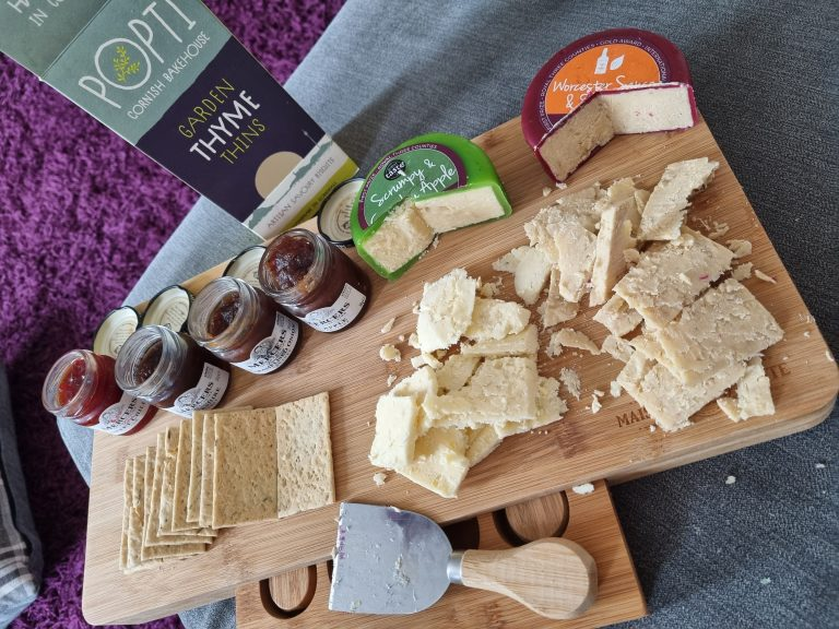 barnsley gift shop christmas gift hamper cheese and biscuits