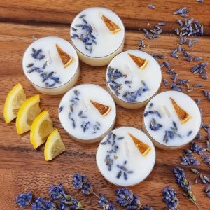 Soy Wax Lemon and Lavender Scented Tea Lights